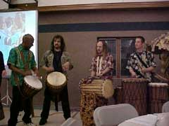 Mpulse percussion group at Tanzanian Benefit Dinner, Roseville, MN